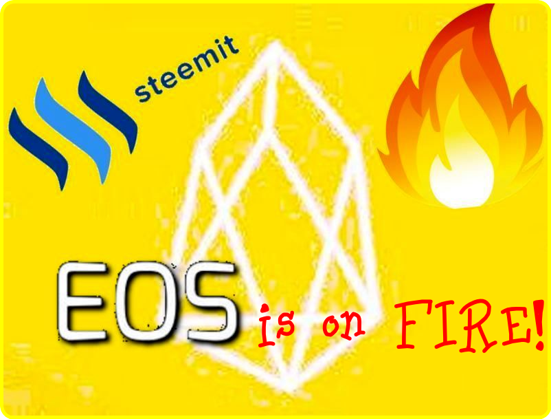 EOS cryptocurrency on fire surges ahead Steemit.com steem power nandibear.com nandi bear luke