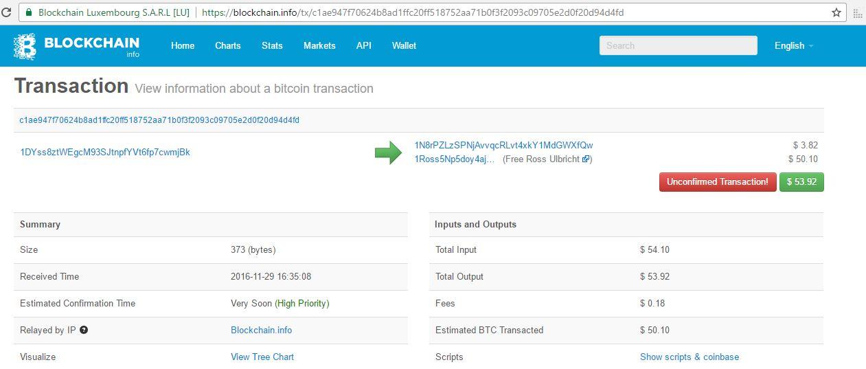 nandibear bitcoin donation Ross Ulbricht